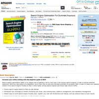 Search Engine Optimization For Dummies screenshot