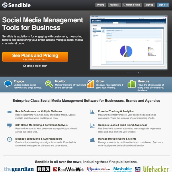 Sendible Homepage