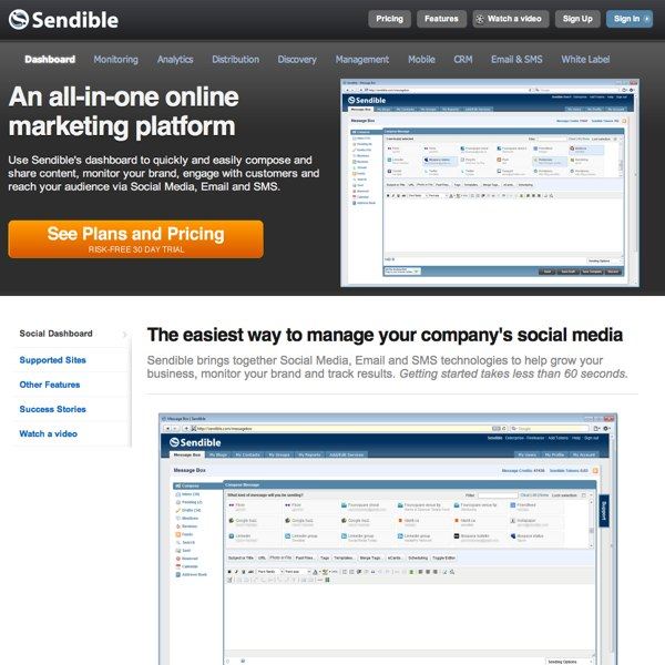 Sendible Dashboard