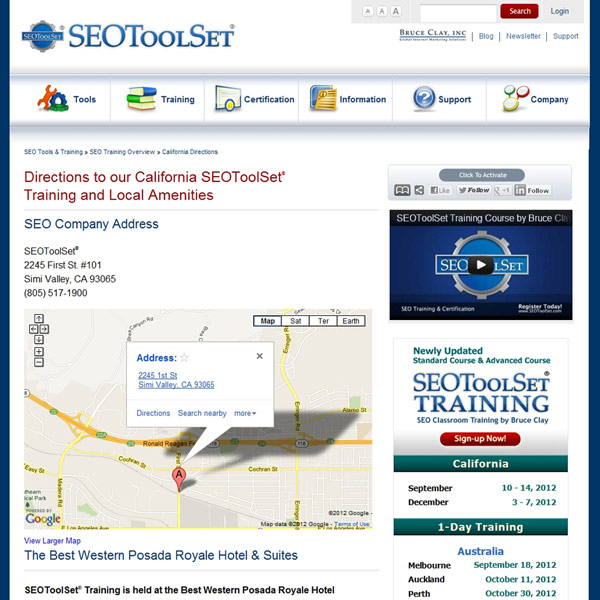 SEOToolSet Training Directions