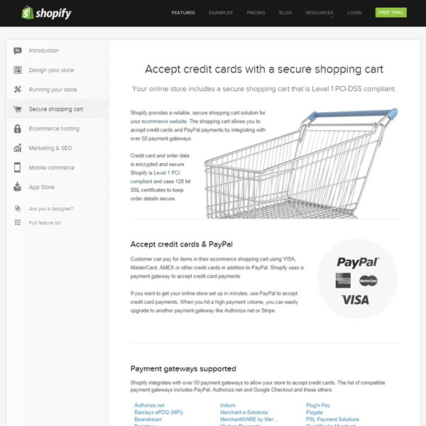 Shopify Shopping Cart