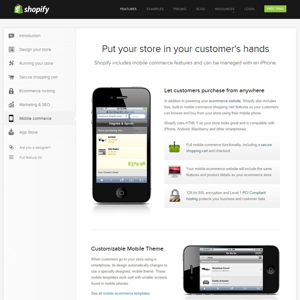 Shopify Mobile Commerce