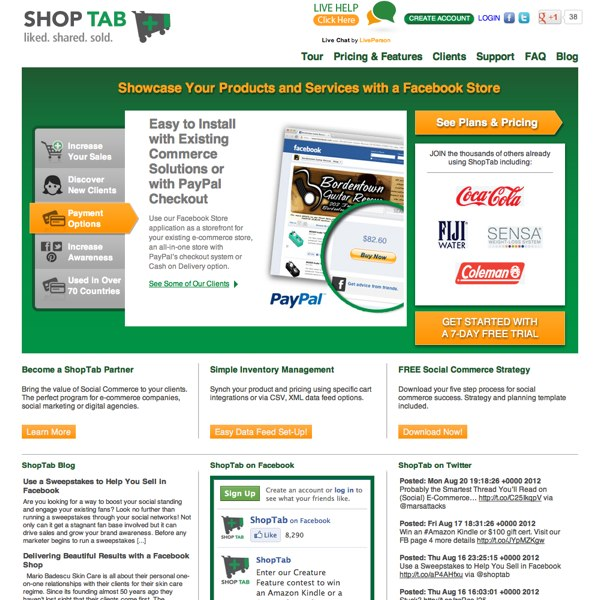 ShopTab Homepage