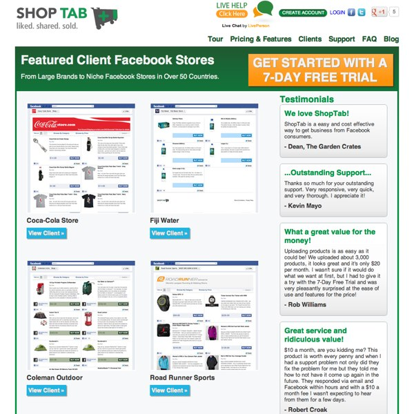 ShopTab Client Gallery