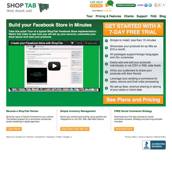 ShopTab Video Tour