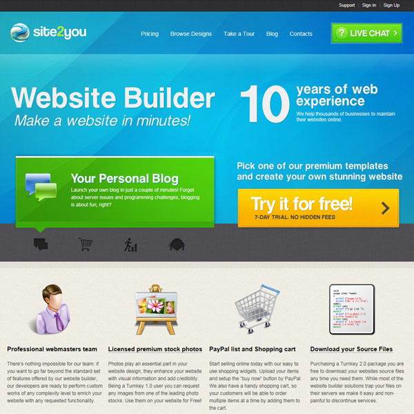 Site2You Homepage