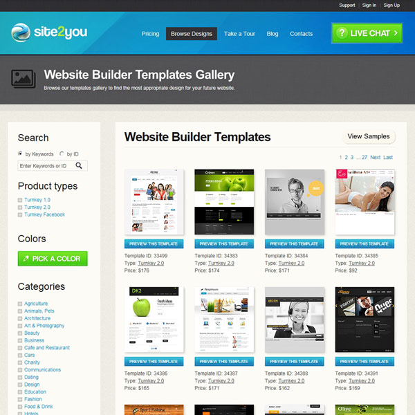 Site2You Design Templates