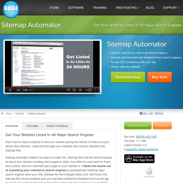Sitemap Automator Homepage