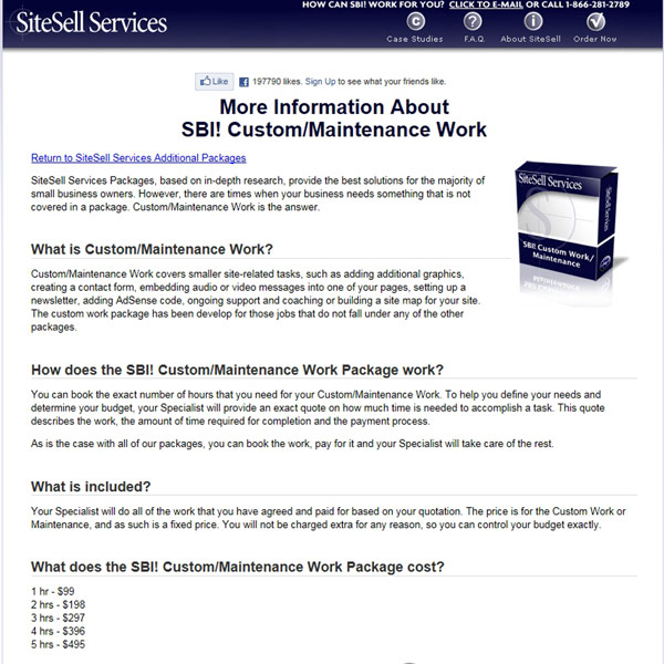 SiteSell Services Custom Work