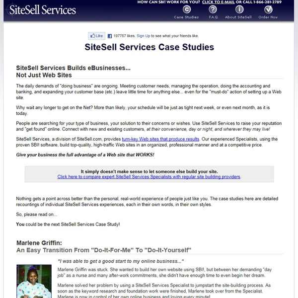SiteSell Services Case Studies