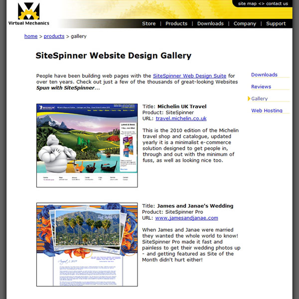 SiteSpinner Client Gallery