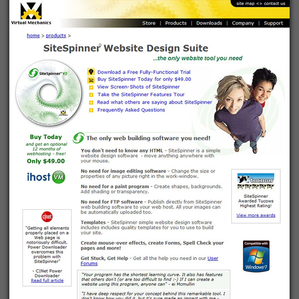 SiteSpinner Web Design Software