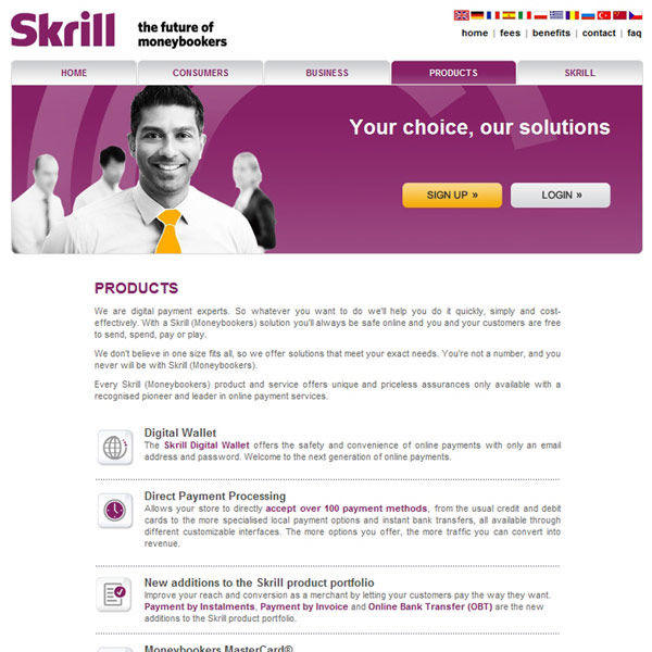 Skrill Products