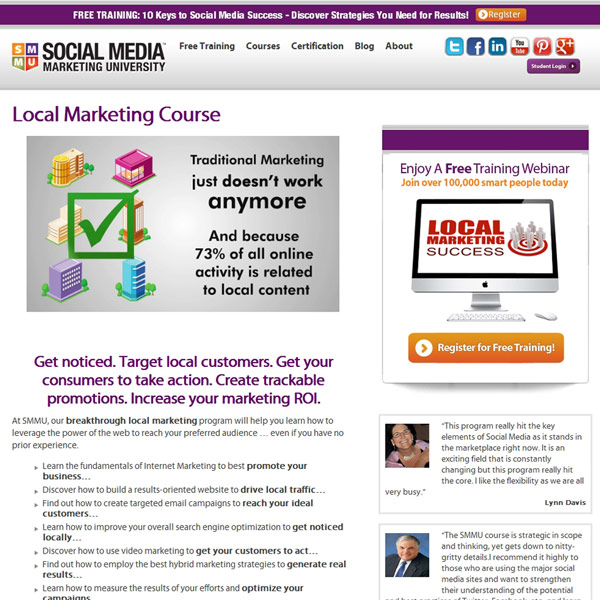 SMMU Local Marketing Homepage