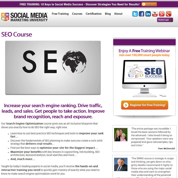 SMMU Search Engine Optimization Homepage