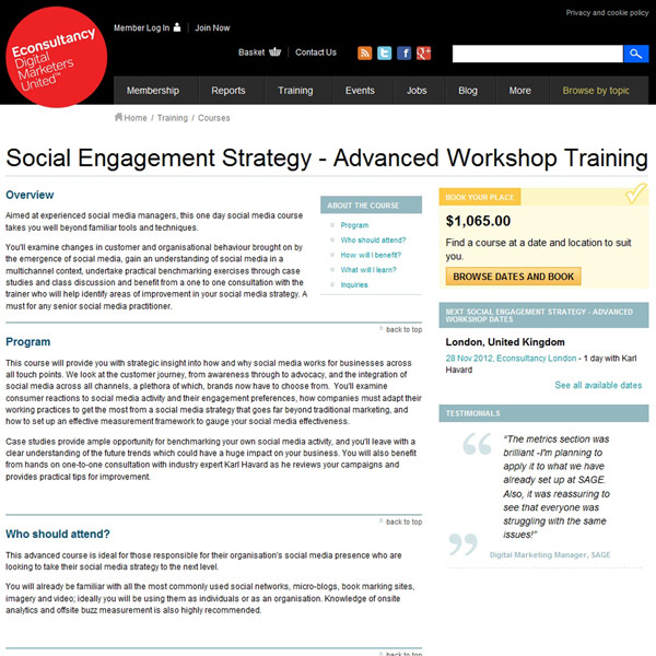 Social Engagement Strategy Homepage