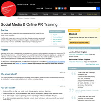 Social Media & Online PR Training screenshot