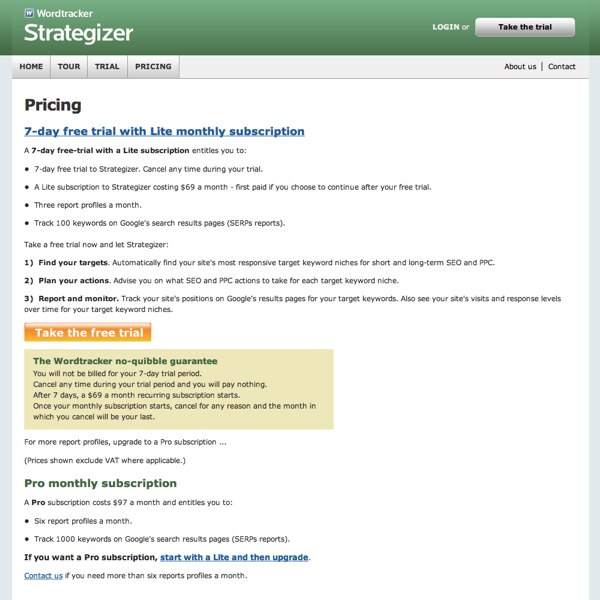 Strategizer Pricing