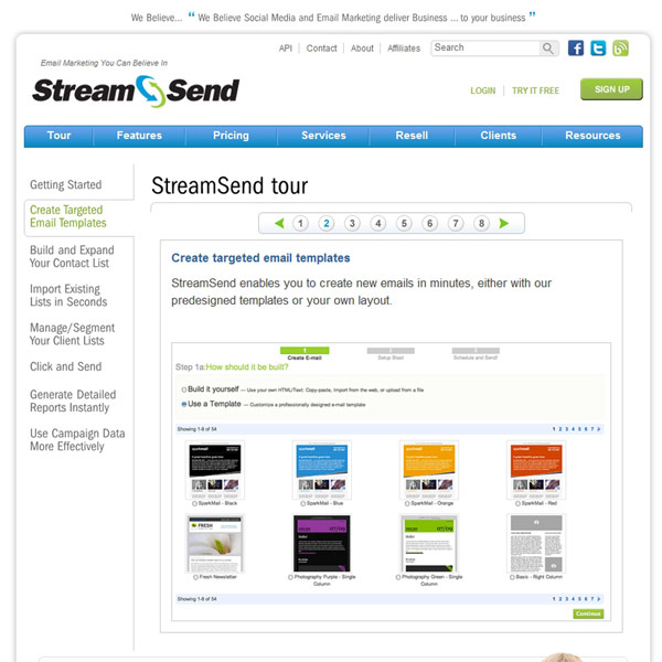StreamSend Email Templates