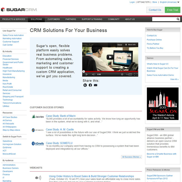 SugarCRM Solutions