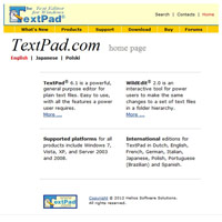 TextPad screenshot