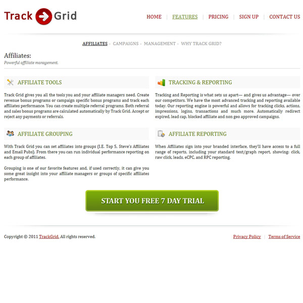 Track Grid Features