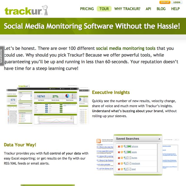 Trackur Features