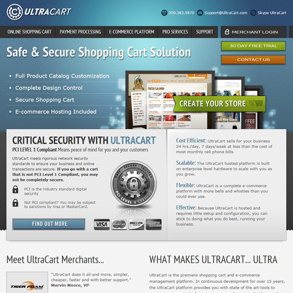 UltraCart Homepage