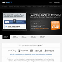 Unbounce screenshot
