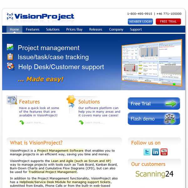 VisionProject Homepage