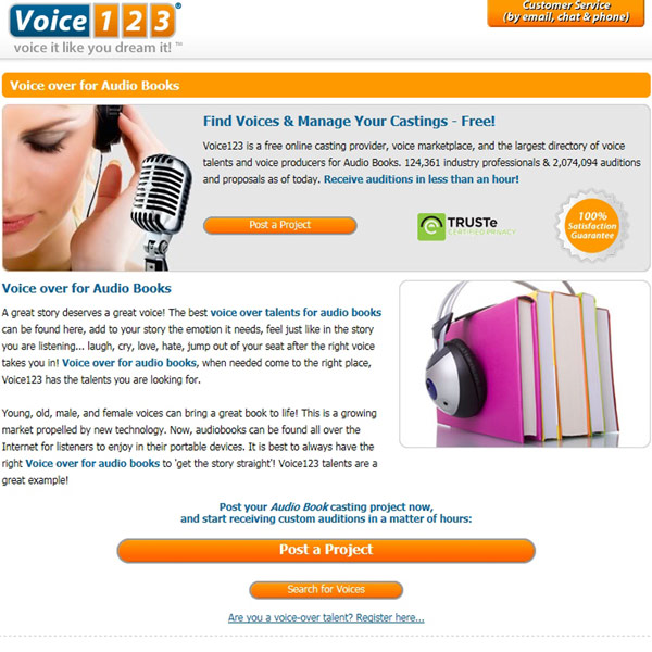 Voice123 Audiobooks
