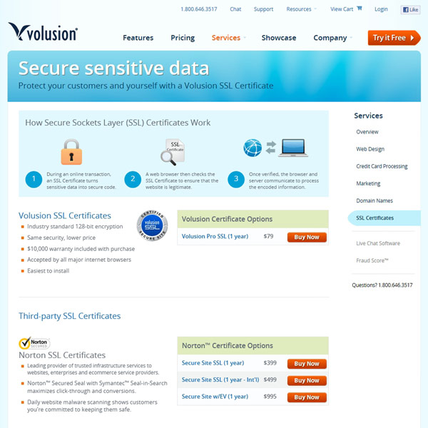 Volusion SSL Certificates