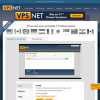 VPS.net screenshot