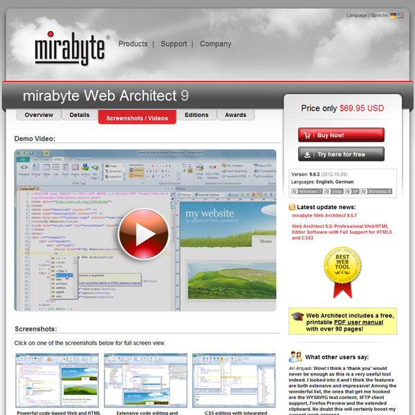 Web Architect Screenshots
