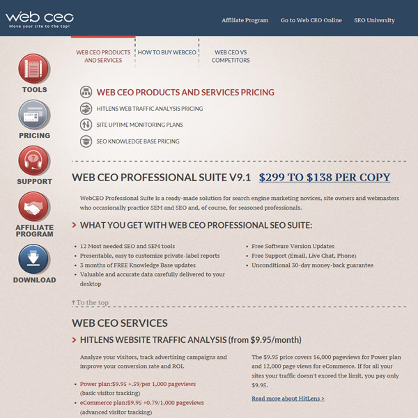 Web CEO Pricing