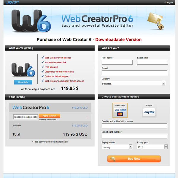 Web Creator Pro Pricing