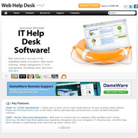 Web Help Desk screenshot