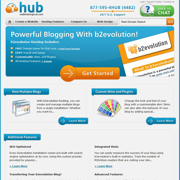 Web Hosting Hub B2evolution Hosting