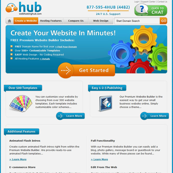 Web Hosting Hub Premium Website Builder