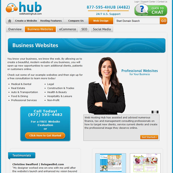 Web Hosting Hub Business Websites