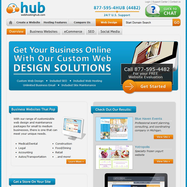 Web Hosting Hub Custom Web Design