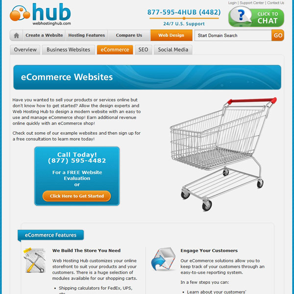 Web Hosting Hub Ecommerce Websites