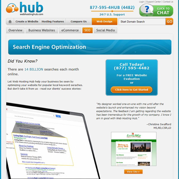 Web Hosting Hub Search Engine Optimization
