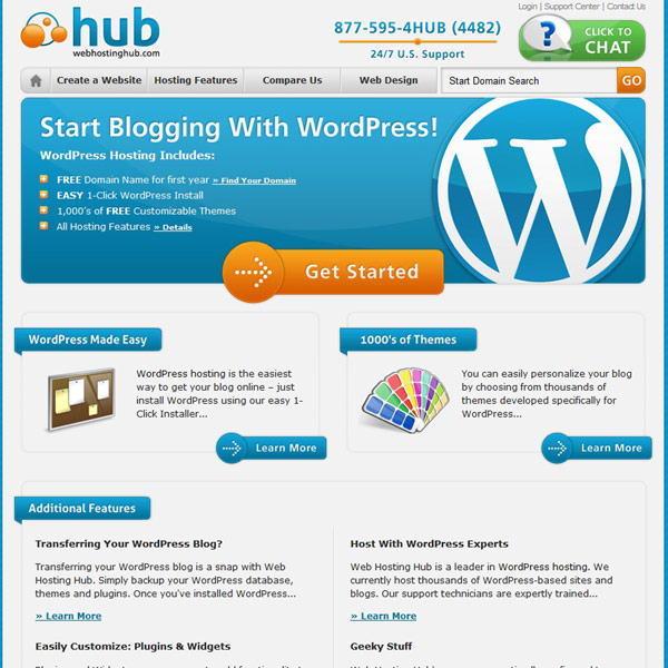 Web Hosting Hub WordPress Hosting