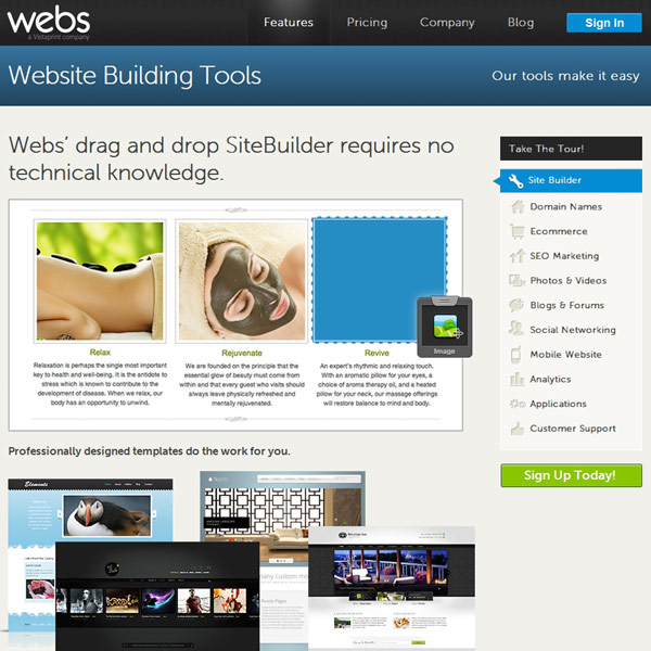 Webs Features