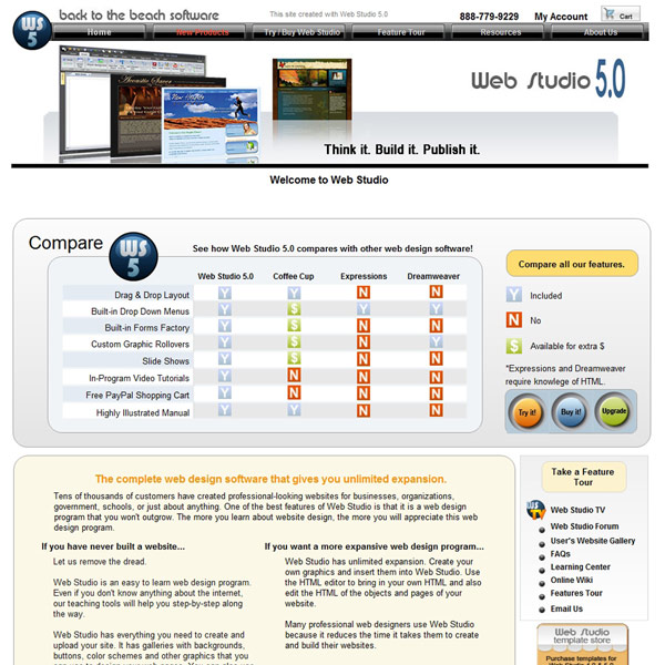 Web Studio Comparison