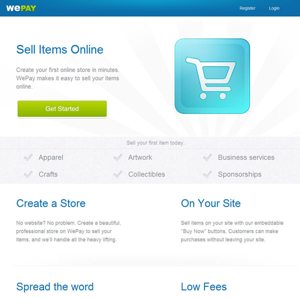 WePay Sell Items Online