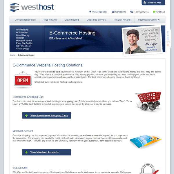 WestHost Ecommerce Hosting Solutions
