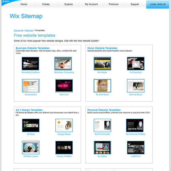 Wix Free Website Templates