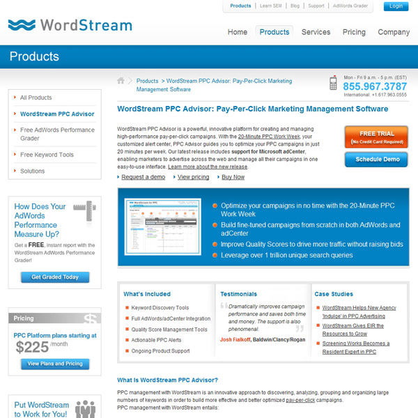 WordStream PPC Advisor
